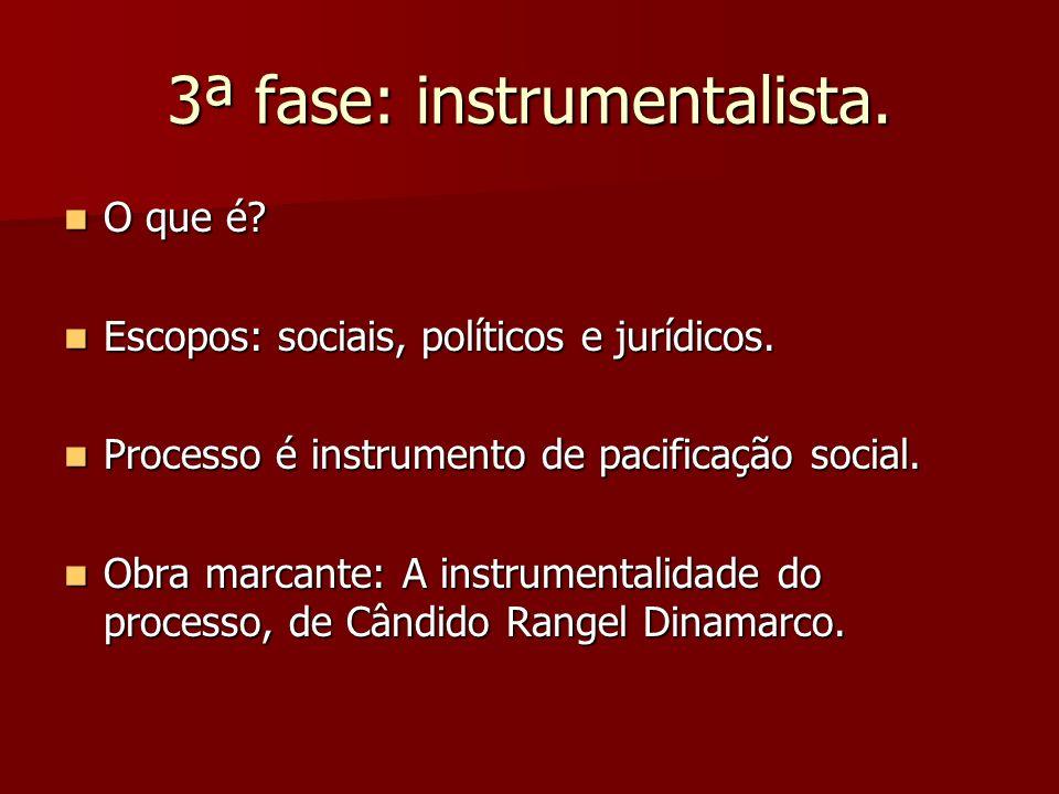3ª fase: instrumentalista.