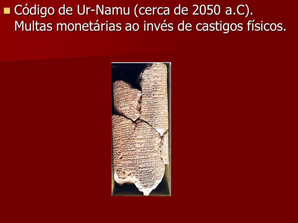 Código de Ur-Namu (cerca de 2050 a. C)