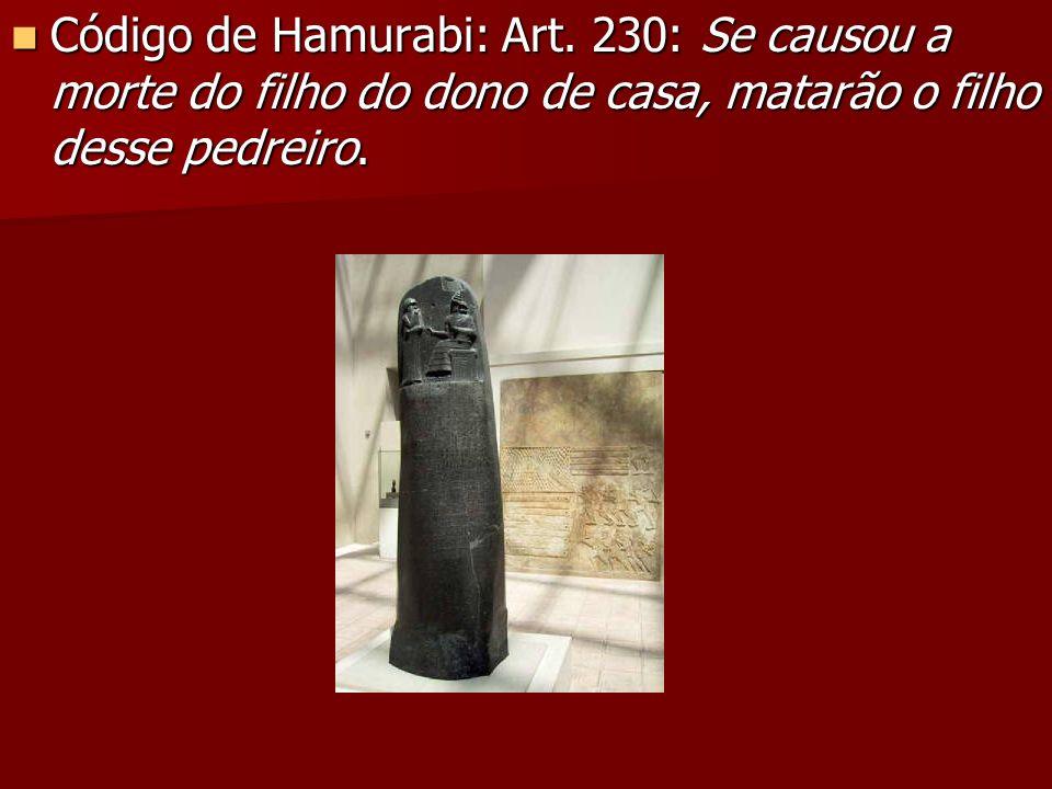 Código de Hamurabi: Art