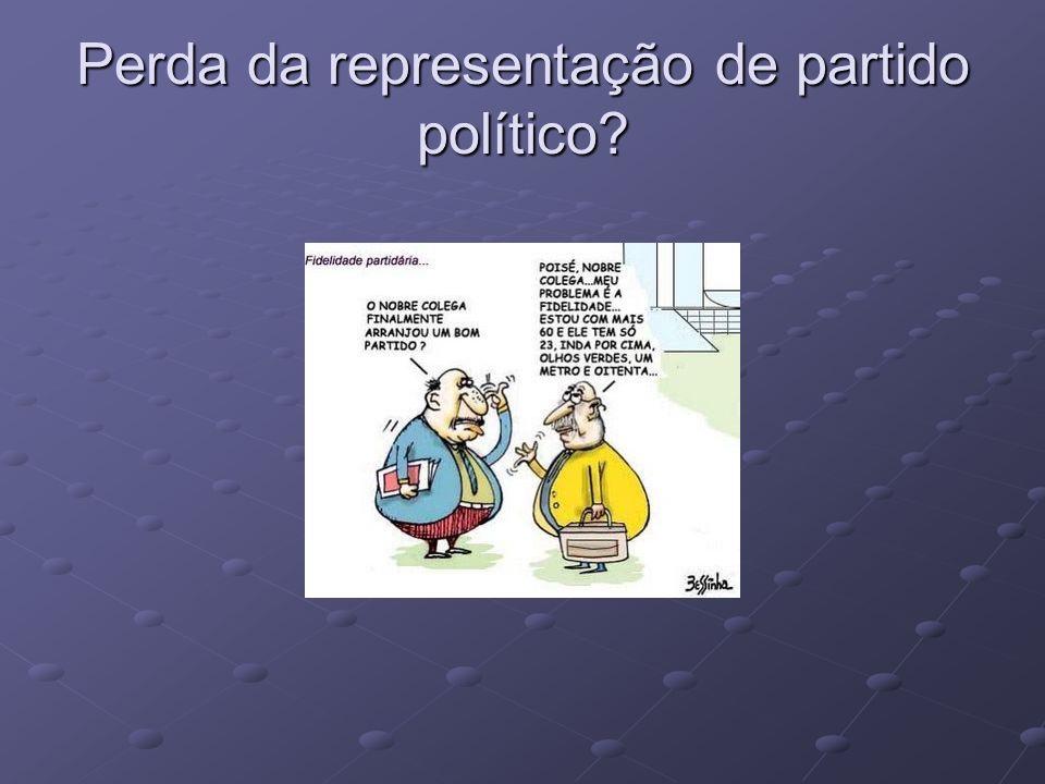 Perda da representação de partido político