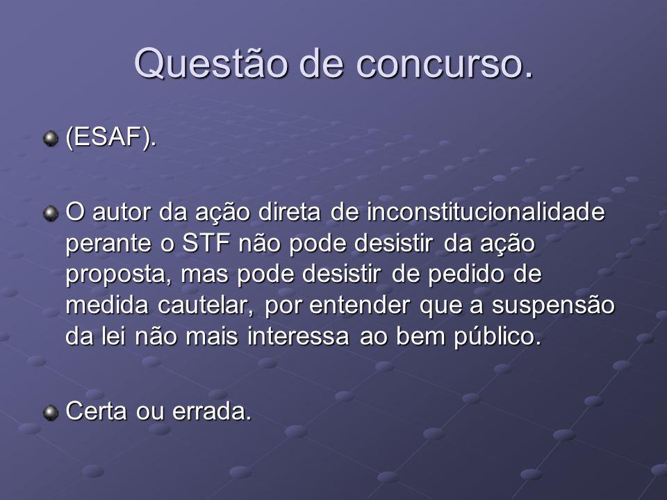 Questão de concurso. (ESAF).