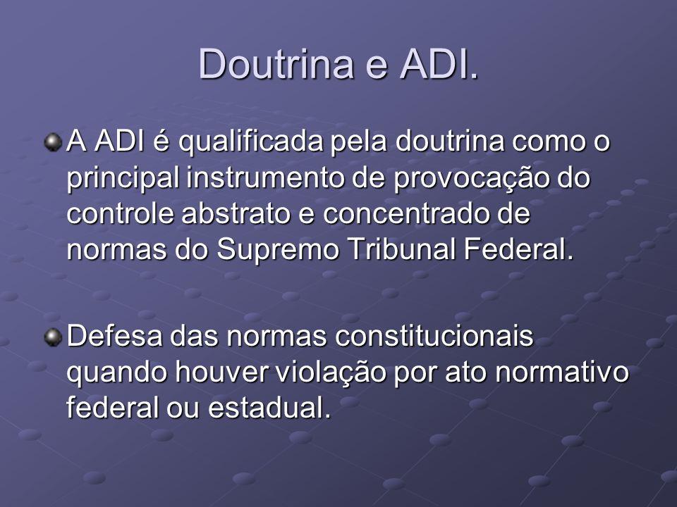Doutrina e ADI.