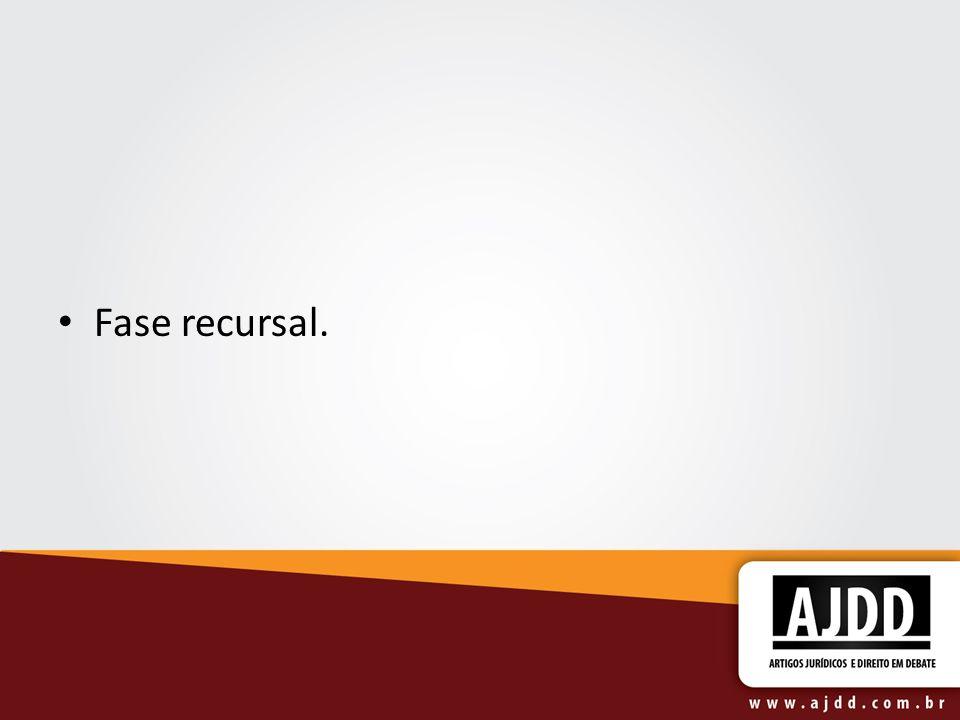 Fase recursal.