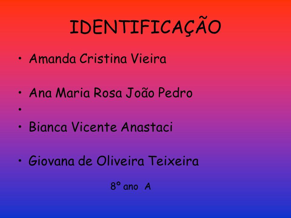 IDENTIFICAÇÃO Amanda Cristina Vieira Ana Maria Rosa João Pedro
