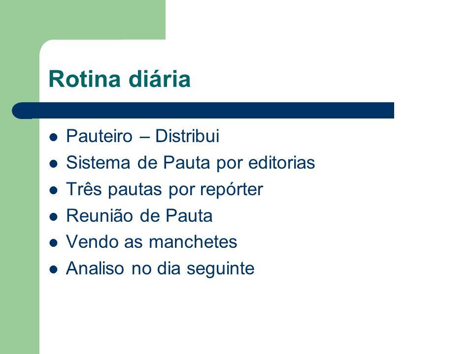 Rotina diária Pauteiro – Distribui Sistema de Pauta por editorias