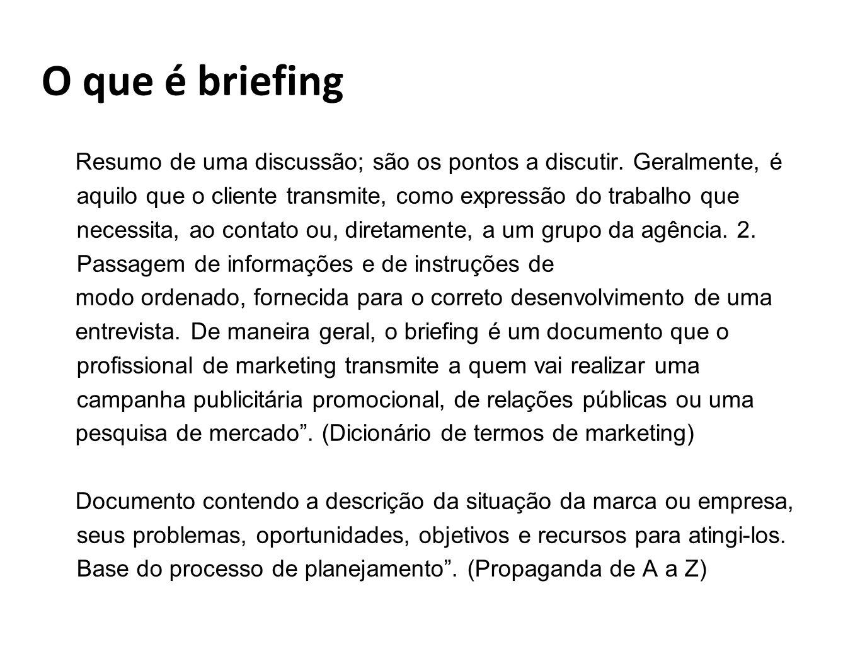 O que é briefing