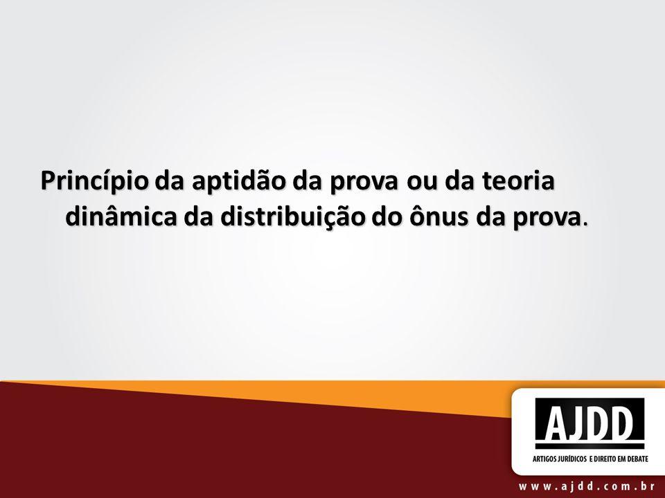 Princípio da aptidão da prova ou da teoria dinâmica da distribuição do ônus da prova.