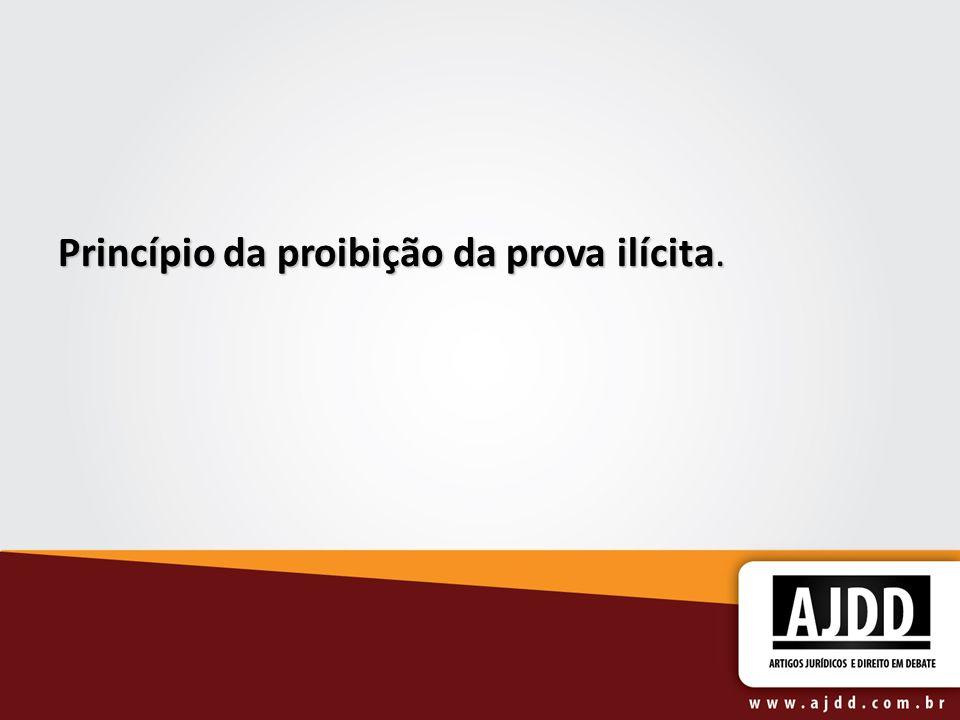 Princípio da proibição da prova ilícita.