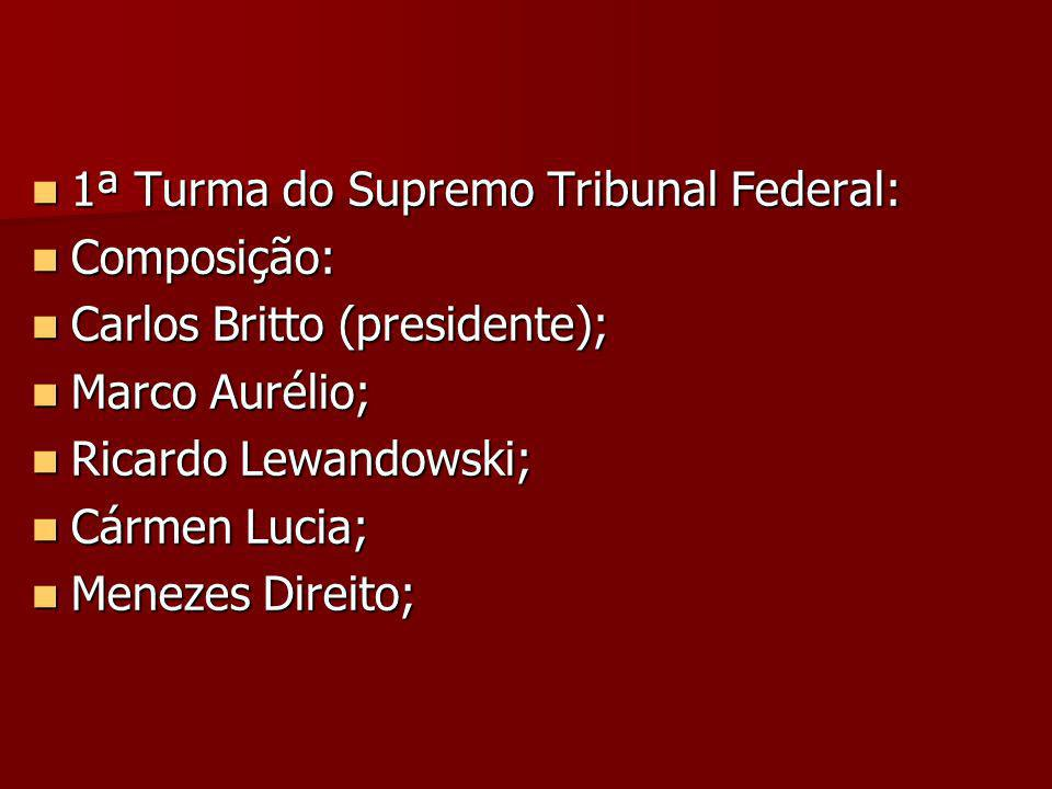 1ª Turma do Supremo Tribunal Federal: