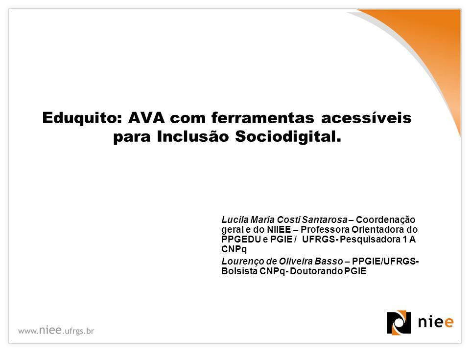 Eduquito: AVA com ferramentas acessíveis para Inclusão Sociodigital.
