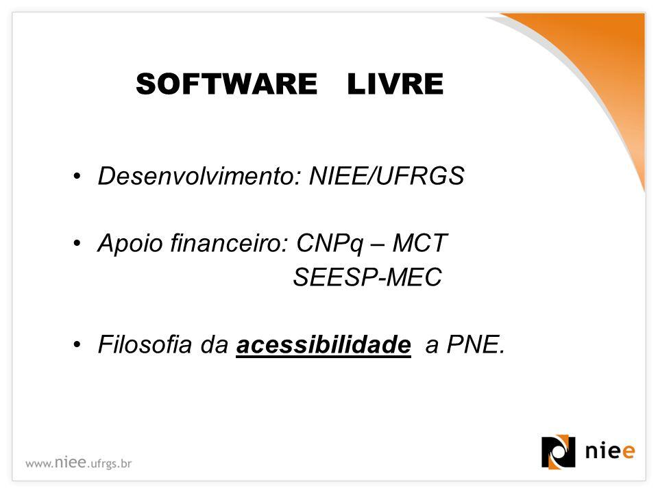 SOFTWARE LIVRE Desenvolvimento: NIEE/UFRGS