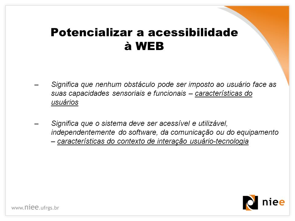 Potencializar a acessibilidade à WEB