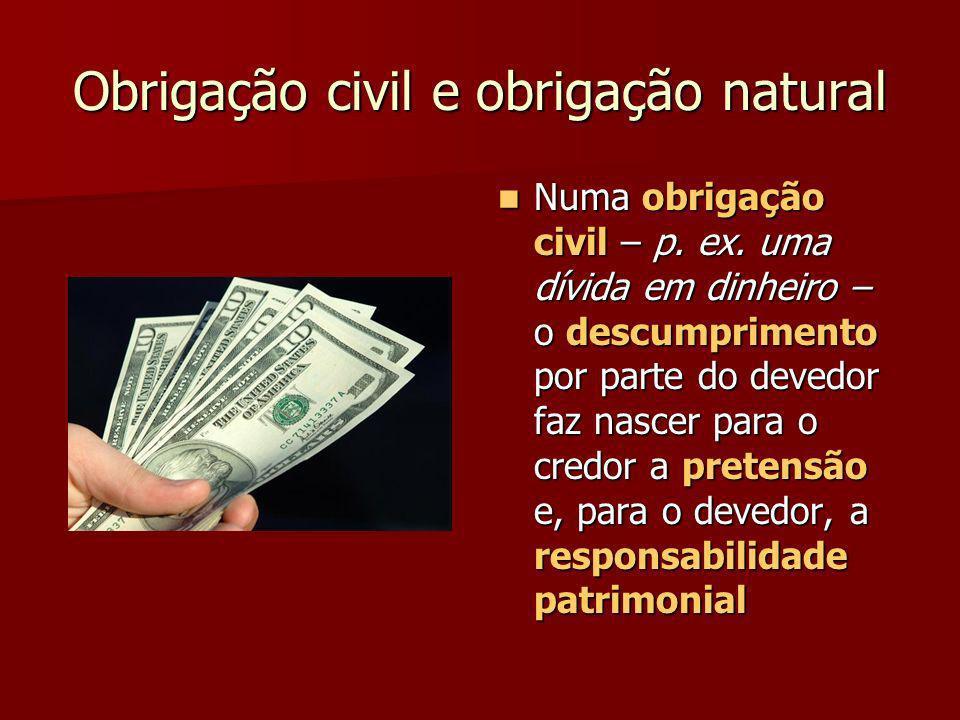 Obrigação civil e obrigação natural