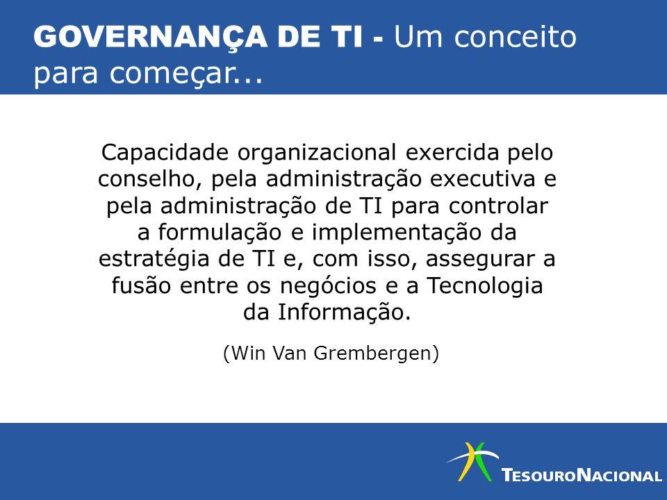 GOVERNANÇA DE TI - Um conceito para começar...