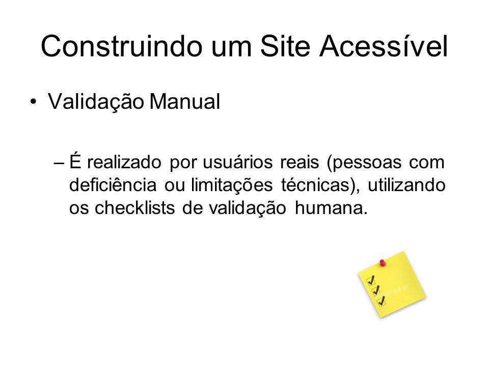 Construindo um Site Acessível