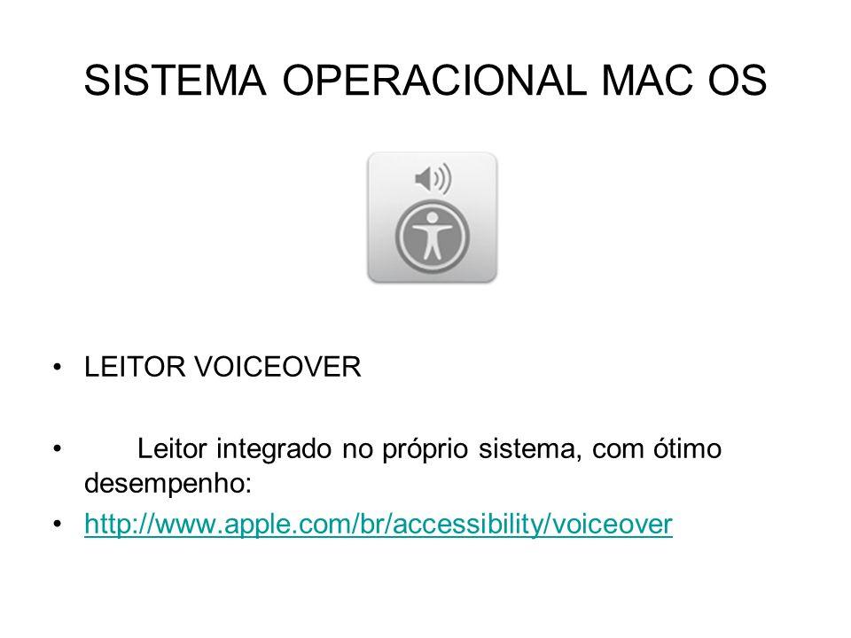 SISTEMA OPERACIONAL MAC OS