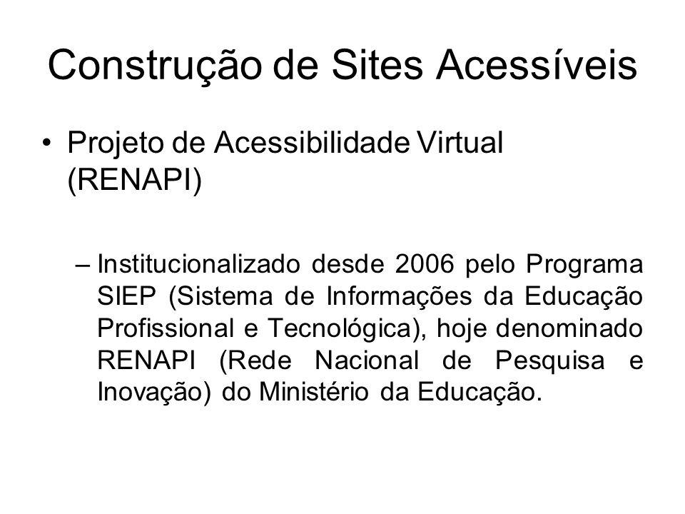 Construção de Sites Acessíveis