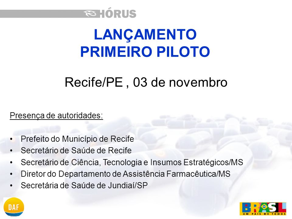 LANÇAMENTO PRIMEIRO PILOTO