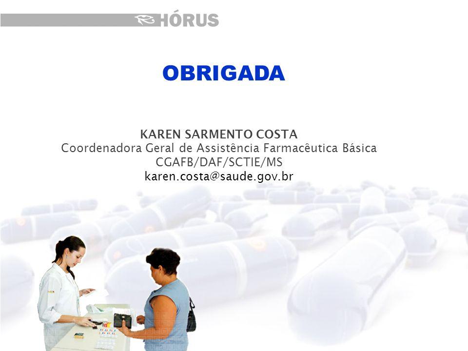 Coordenadora Geral de Assistência Farmacêutica Básica