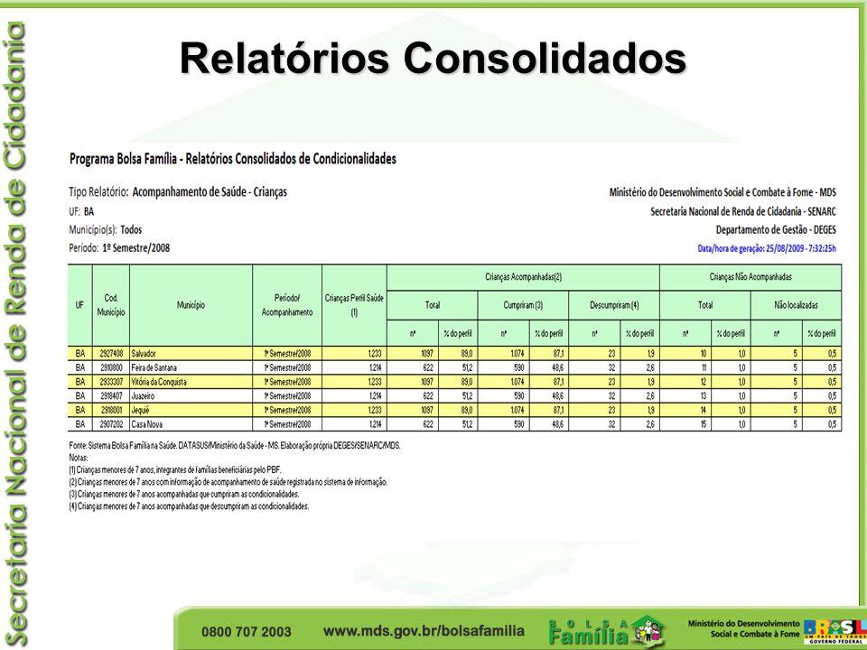 Relatórios Consolidados