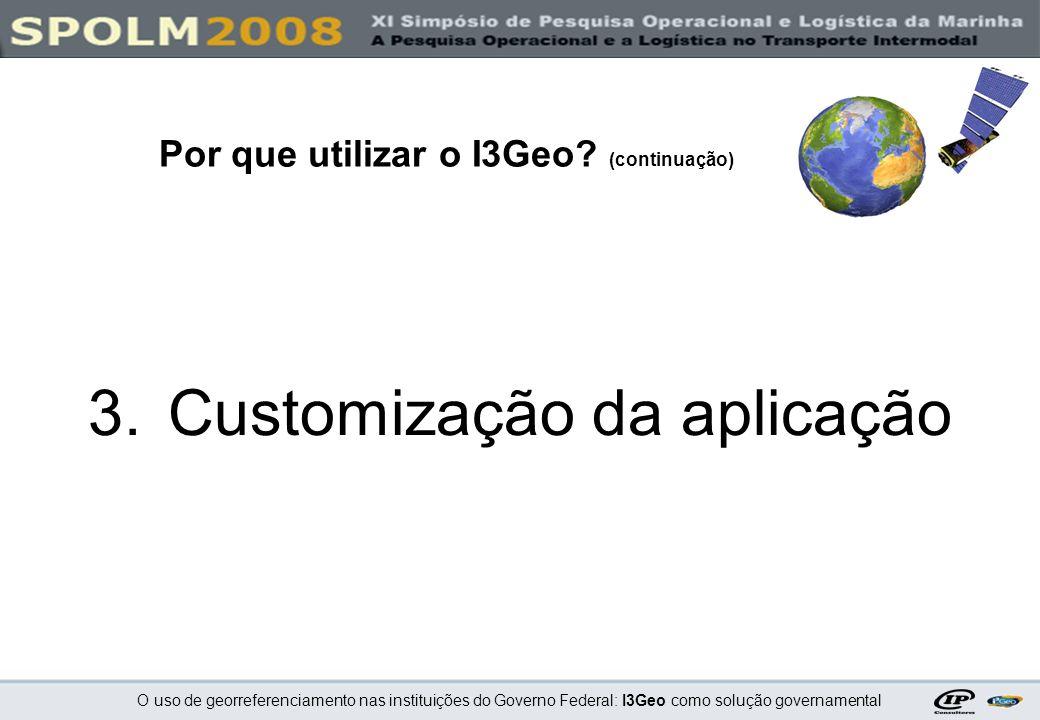 Customização da aplicação