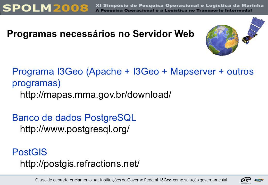Programas necessários no Servidor Web