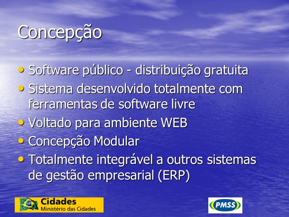 Concepção Software público - distribuição gratuita