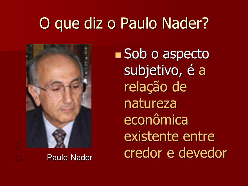 O que diz o Paulo Nader. Paulo Nader.