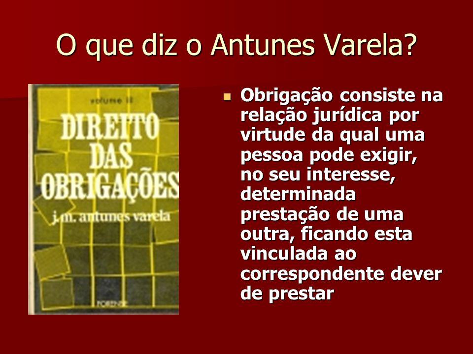 O que diz o Antunes Varela