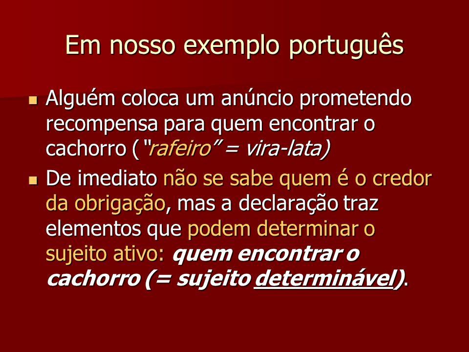 Em nosso exemplo português