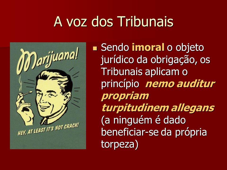 A voz dos Tribunais
