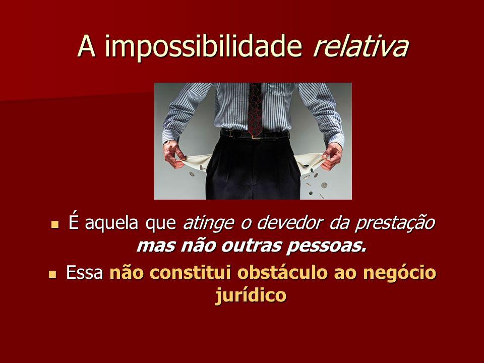 A impossibilidade relativa