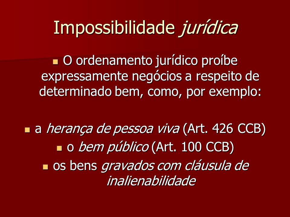 Impossibilidade jurídica