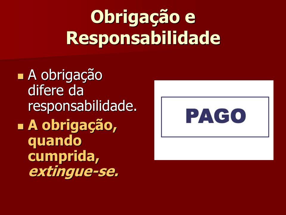 Obrigação e Responsabilidade