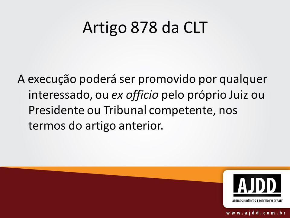 Artigo 878 da CLT