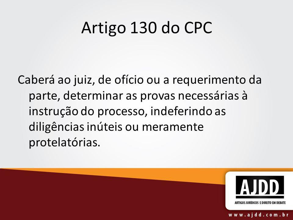 Artigo 130 do CPC
