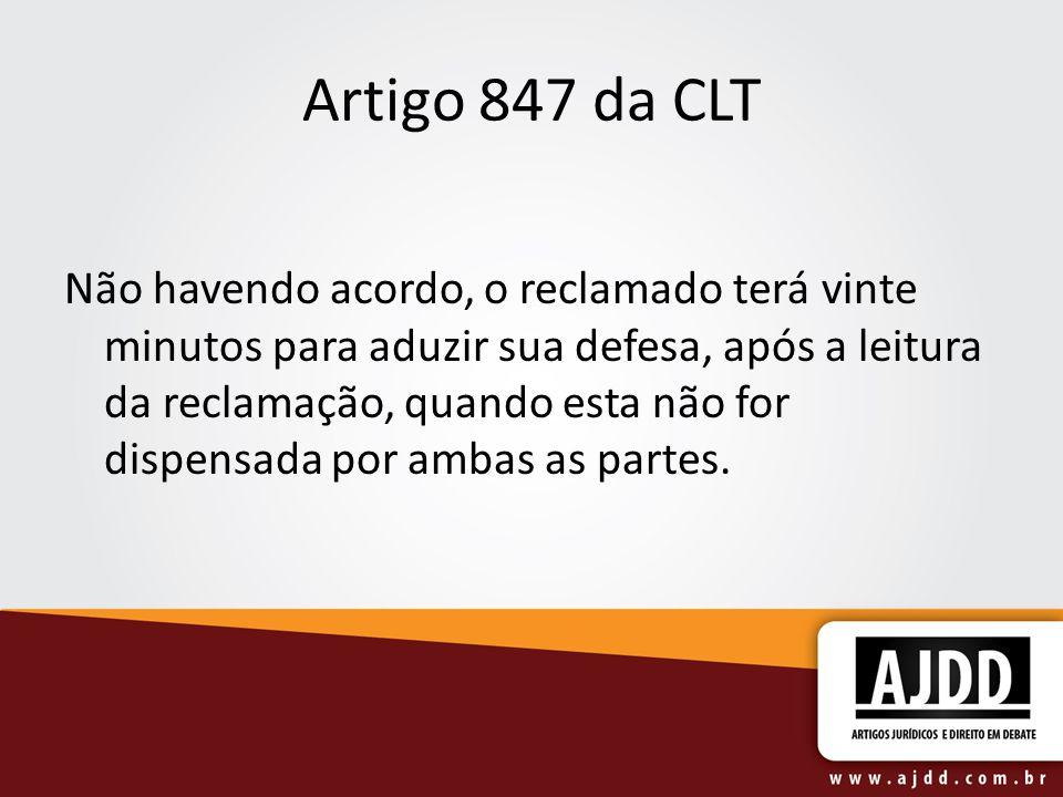 Artigo 847 da CLT