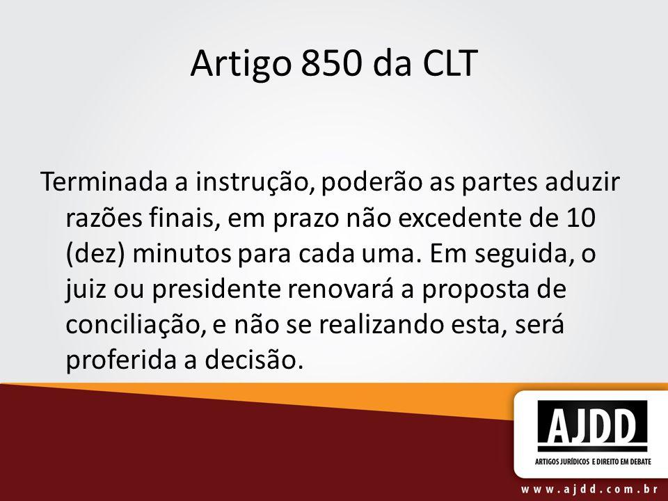 Artigo 850 da CLT