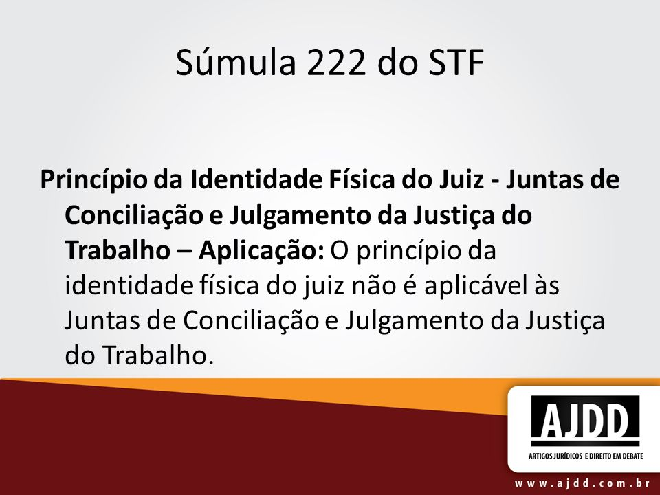 Súmula 222 do STF
