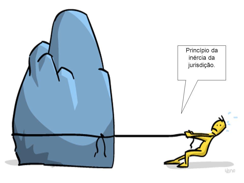 Princípio da inércia da jurisdição.