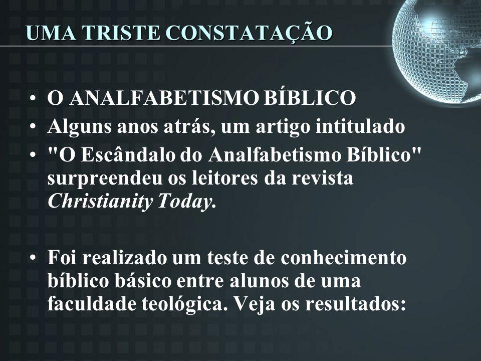 UMA TRISTE CONSTATAÇÃO