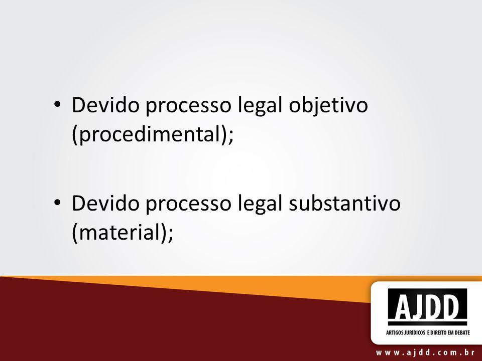 Devido processo legal objetivo (procedimental);
