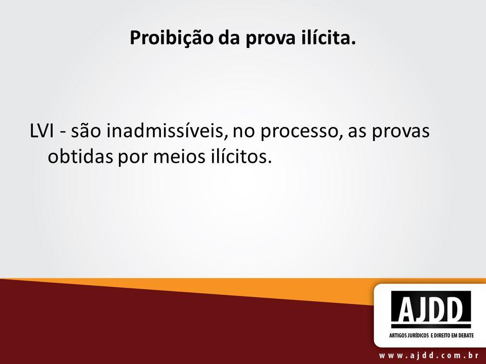 Proibição da prova ilícita.