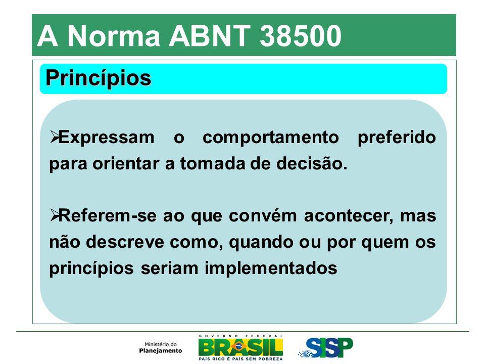 A Norma ABNT 38500 Princípios