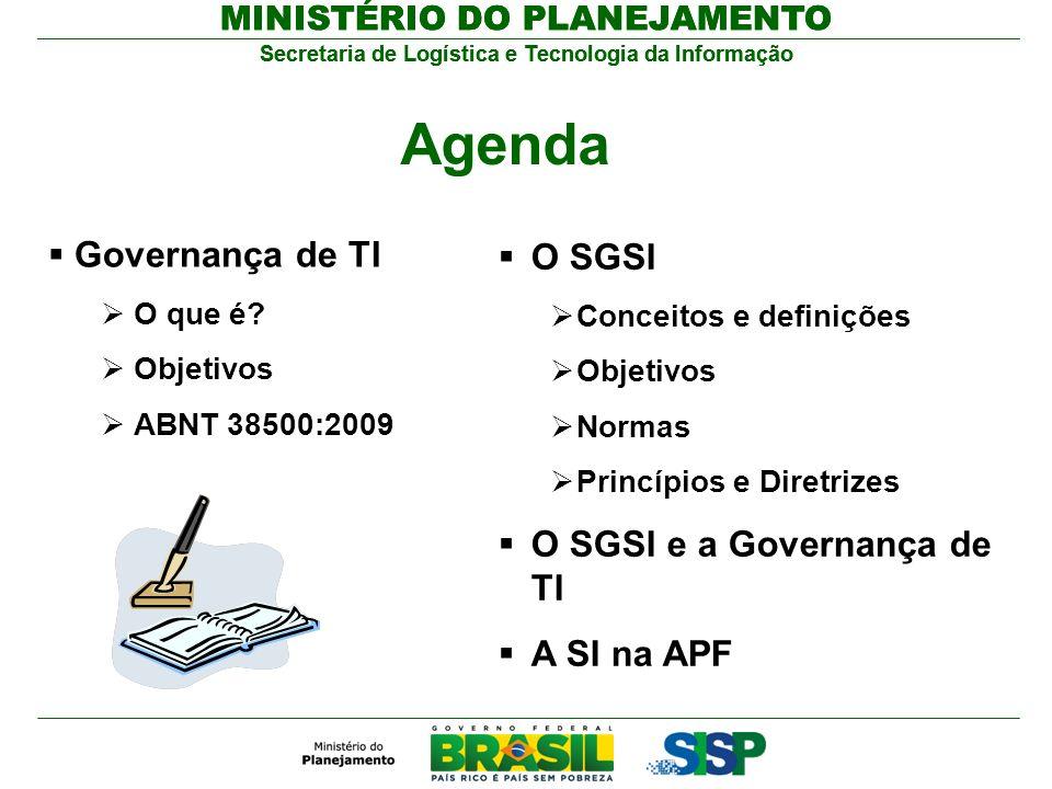 Agenda Governança de TI O SGSI O SGSI e a Governança de TI A SI na APF