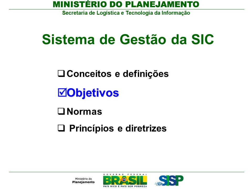 Sistema de Gestão da SIC