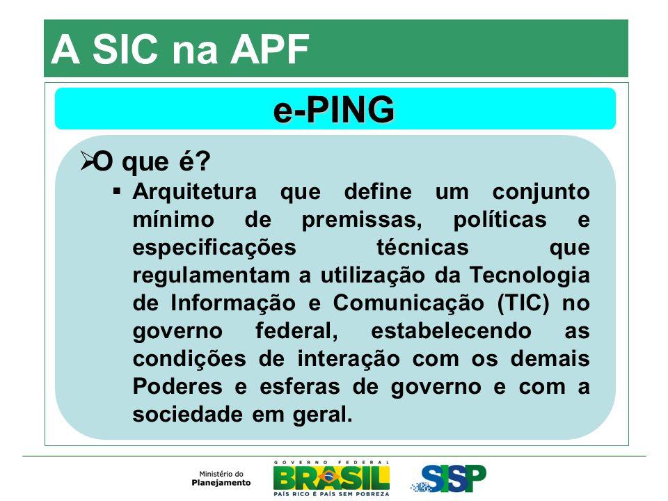A SIC na APF e-PING O que é