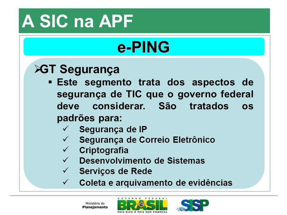 A SIC na APF e-PING GT Segurança