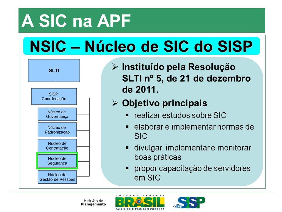NSIC – Núcleo de SIC do SISP