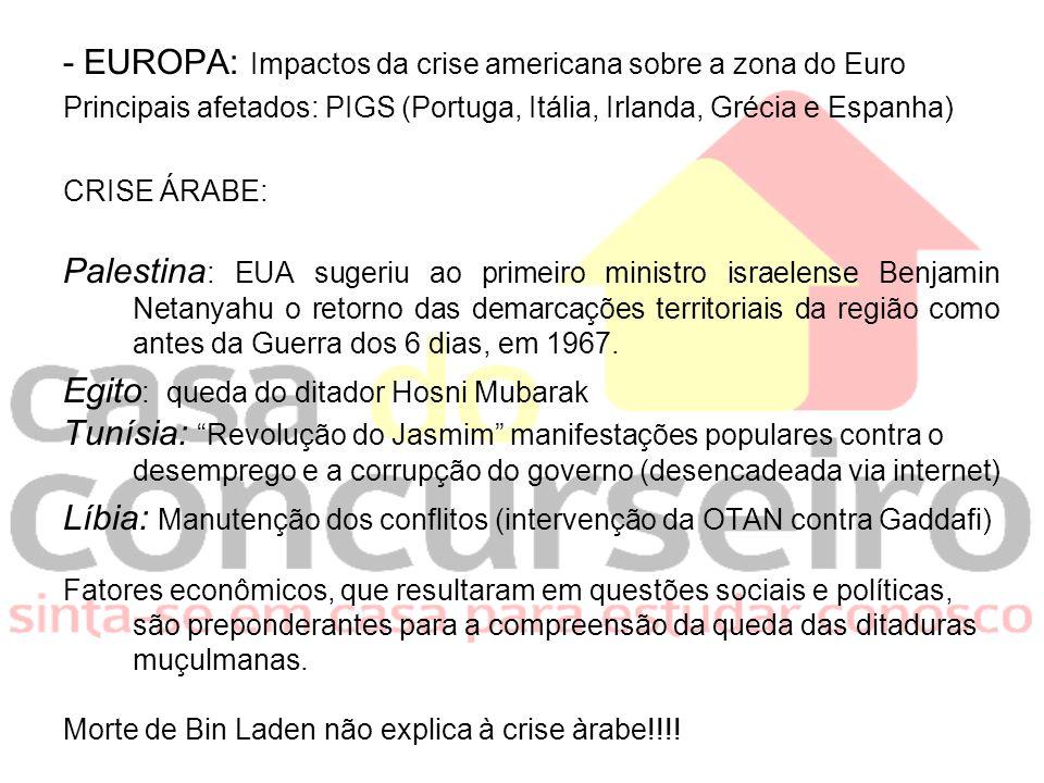 - EUROPA: Impactos da crise americana sobre a zona do Euro